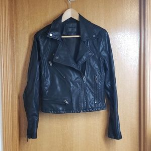 Chic Blank NYC Vegan Leather Black Moto Jacket M